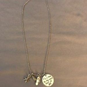 Necklace with Beach charms